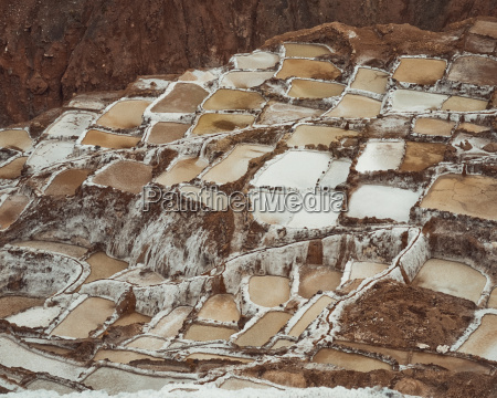 view of salt mines in mountains