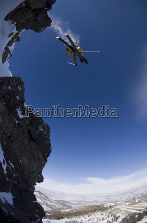 man skiing at park city mountain