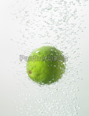 lime in water bubbles