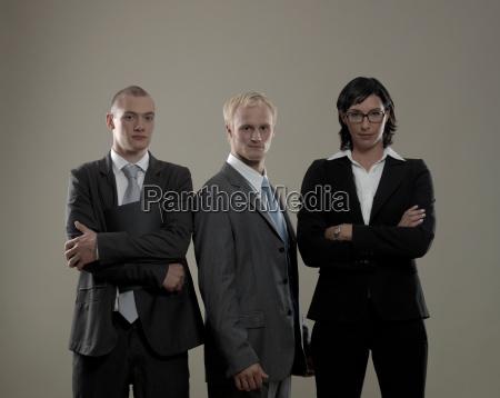 tre colleghi di lavoro ritratto