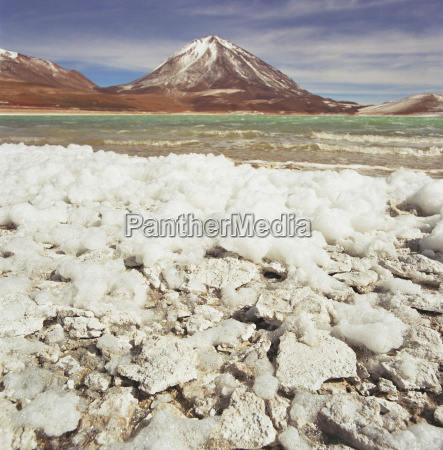 salt plains with mountainous background