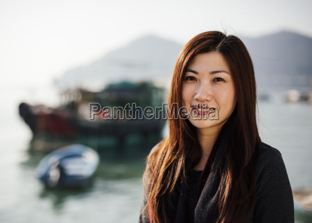portrait of mid adult woman in