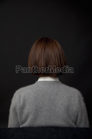 rear view portrait of woman