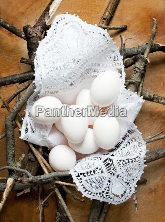 natura morta cibo nido sano equilibrio