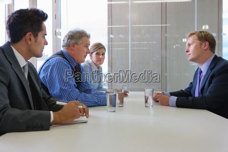 businessman in interview in office