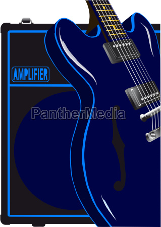 blues guitar and amplifier