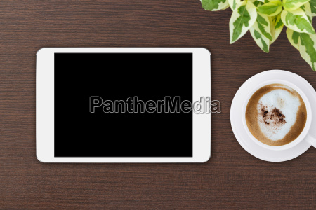 mock up tablet blank screen on