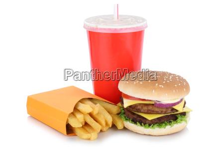 doppio menu di cheeseburger hamburger con