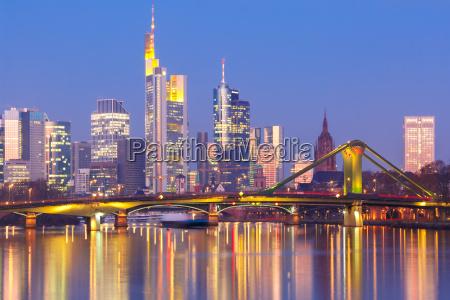 frankfurt am main in the morning