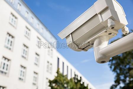 telecamera di sicurezza al di fuori