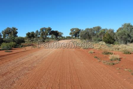 gravel road in the australian outback
