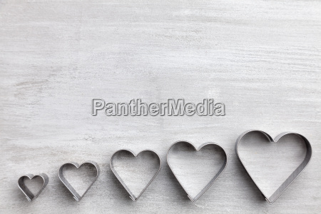 love concept hearts on grey background