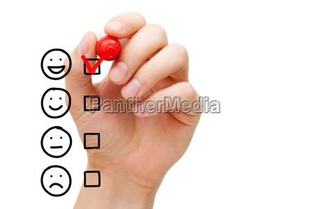 modulo di valutazione del servizio clienti