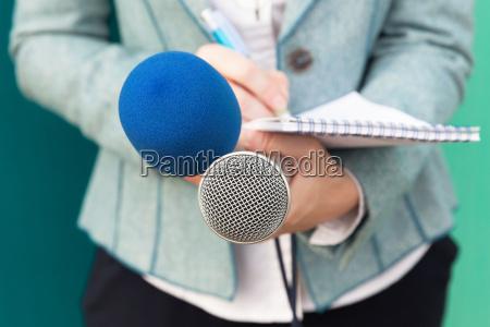 giornalista presso media event conferenza stampa