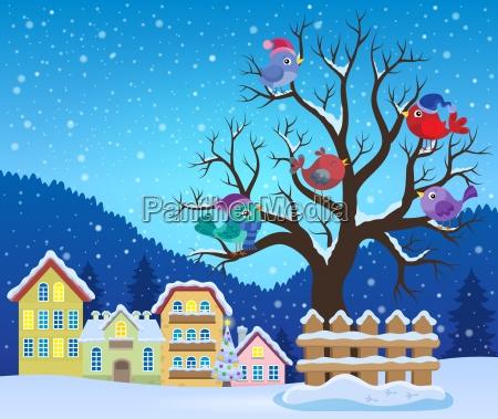 albero di inverno con limmagine di