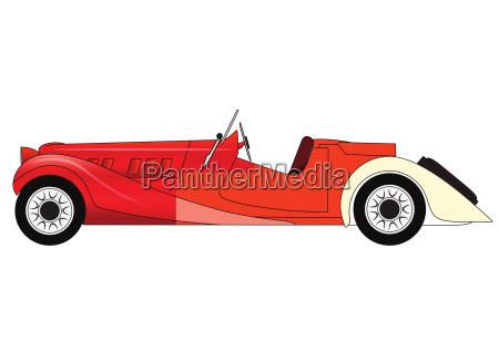 vecchia macchina da corsa classica