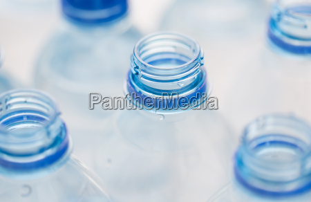 close up of empty used water