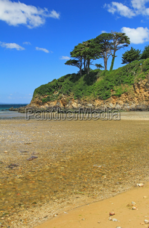 coast in brittany france