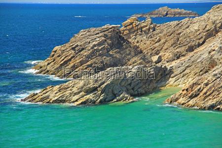 rocky coast on the atlantic ocean