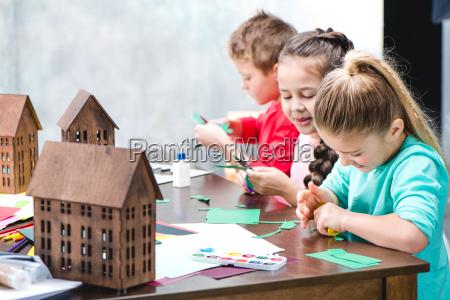 schoolchildren, making, applique - 20194409