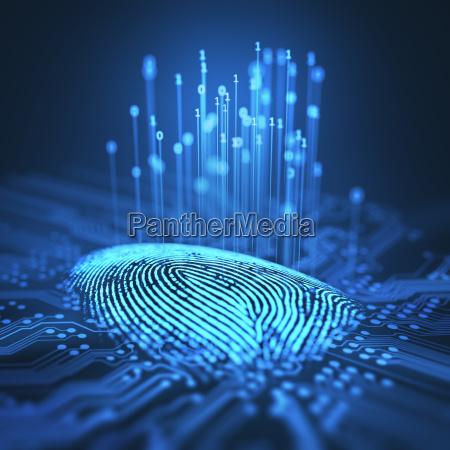dito crimine spia futuristico verifica digitale