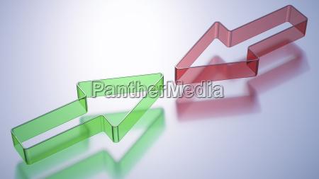 verde contrasto cancello portale illustrazione direzione