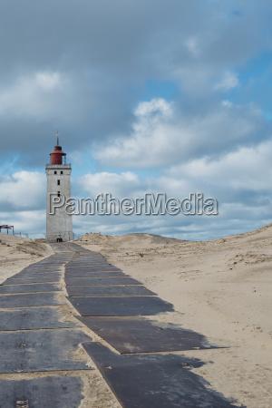 denmark north jutland lighthouse rubjerg knude