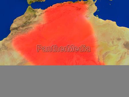 ambiente spazio africa illustrazione satellite satellitare