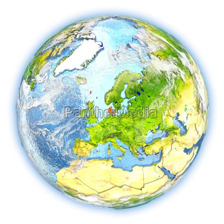 rilasciato europa danimarca illustrazione appartato satellite