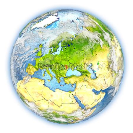 rilasciato europa illustrazione appartato satellite atmosfera