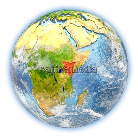 rilasciato africa kenia illustrazione appartato satellite