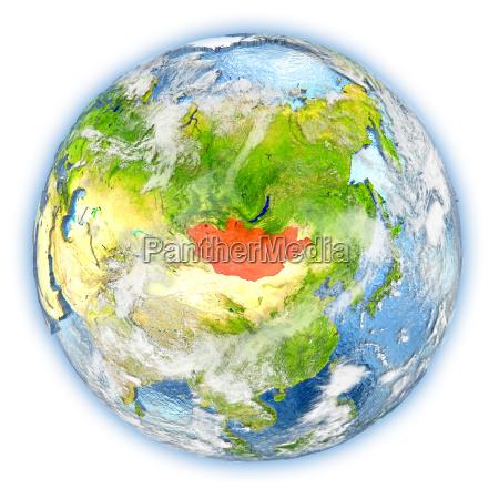 rilasciato asia mongolia illustrazione appartato satellite