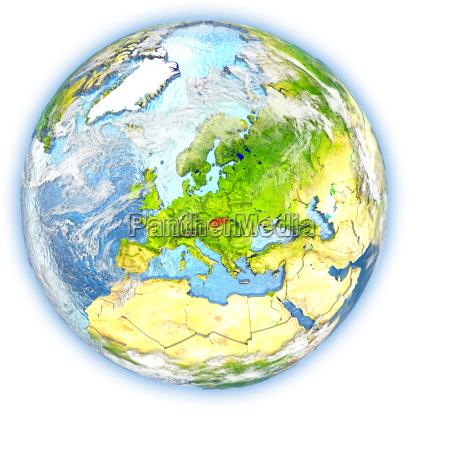 rilasciato slovacchia europa illustrazione appartato satellite