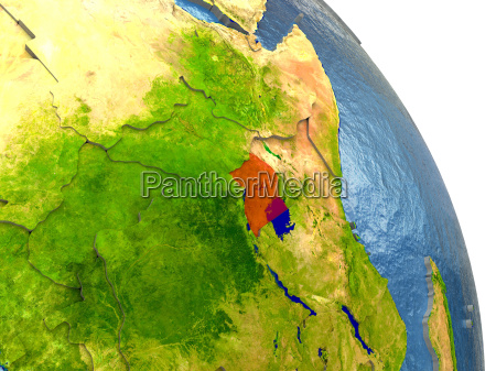 ambiente scienza africa illustrazione satellite paese