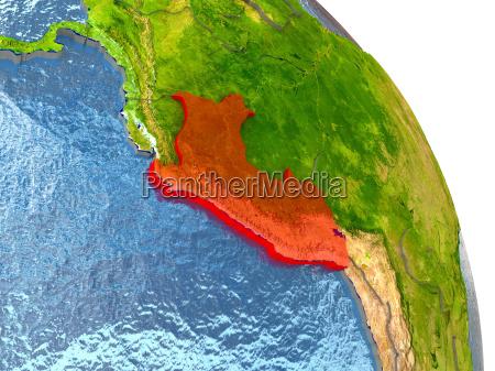 ambiente scienza illustrazione satellite sudamerica paese