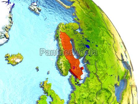 ambiente scienza europa svezia illustrazione satellite