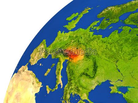 ambiente spazio austria europa illustrazione satellite