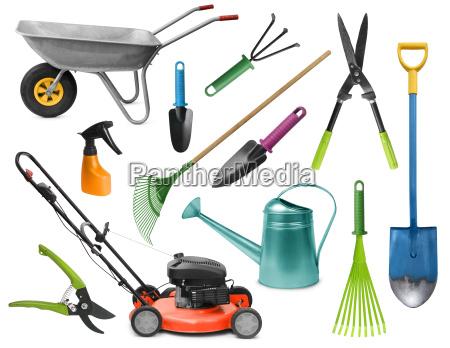 strumenti attrezzi rilasciato giardino appartato giardinaggio