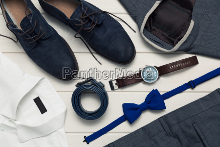 collection of mens fashion clothes and