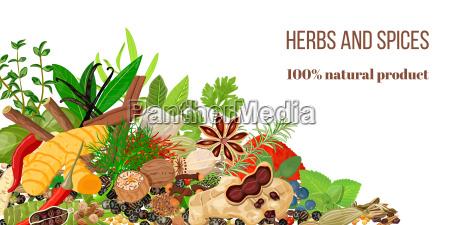 card con pila di erbe culinarie