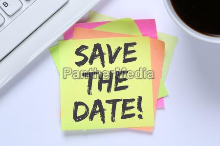 salvare la data data appuntamento business