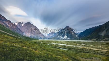 mountain landscape at lake clark national