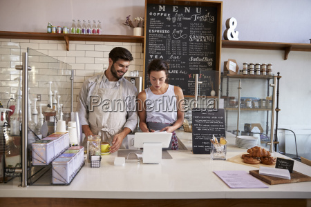 donna caffe cassa risata sorrisi avoro