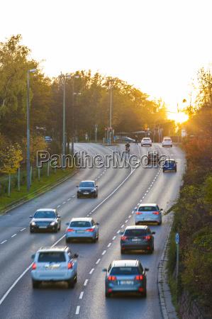germany stuttgart cars on highway at