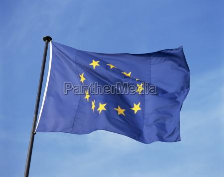 close up della bandiera dellunione europea