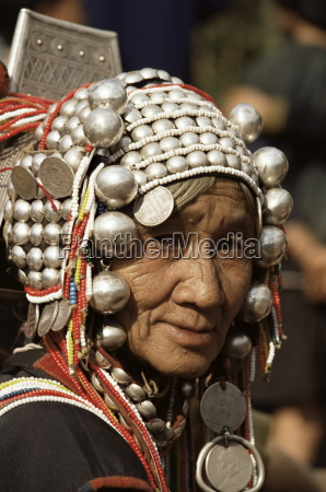 portrait of an akha hill tribe
