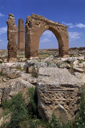 tower and arch of the temple