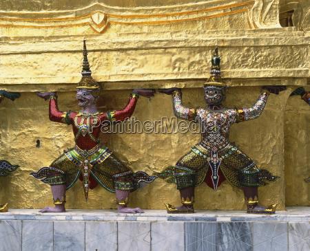 detail of mythological figures at the