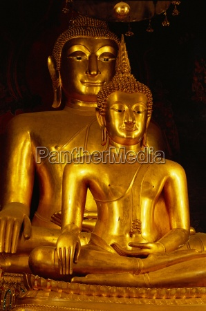 twin buddha images the front is