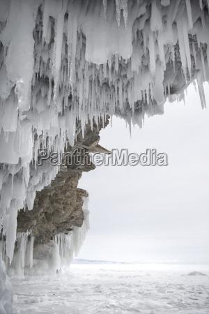 viaggio viaggiare colore inverno grotta congelato